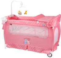 Кровать-манеж Lorelli Sleep N Dream Green Pink Hippo / 10080312076 -