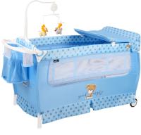 Кровать-манеж Lorelli Sleep N Dream Green Blue Dog / 10080312077 -