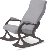 Кресло-качалка Слайдер Санторини (венге/серый) -