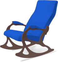Кресло-качалка Слайдер Санторини (орех/индиго) -