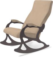 Кресло-качалка Слайдер Санторини мягкая часть фигурная (венге/кремовый) -