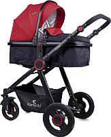Детская универсальная коляска Lorelli Alexa Black and Red (10021261800) -