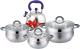 Набор кастрюль Lara LR02-92 Bell Promo -