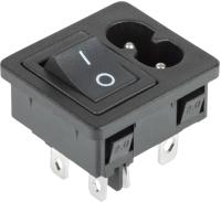 Выключатель клавишный Rexant ON-OFF 36-2284 (черный) -