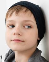 Шапка детская Mark Formelle 227007 (р.52, синие штришки на черном мулине) -