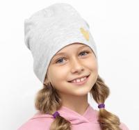 Шапка детская Mark Formelle 227015 (р.50, светло-серый меланж/печать) -