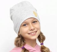 Шапка детская Mark Formelle 227015 (р.54, светло-серый меланж/печать) -