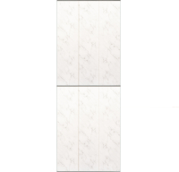 Экран-дверка Comfort Alumin Хлопковый мрамор 0.73x2м -
