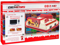 Игровая приставка Retro Genesis 8 Bit HD + 300 игр (белый/красный) -