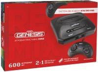 Игровая приставка Retro Genesis 8+16Bit Remix + 600 игр (черный) -