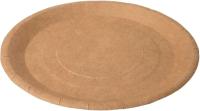 Набор бумажных тарелок Krafteco Крафт 180 с биоламинацией (50шт) -