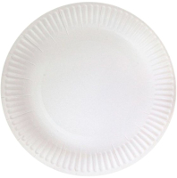Набор бумажных тарелок Krafteco Basic 18 мелованная (100шт) -