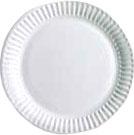 Набор бумажных тарелок Krafteco Basic 23 мелованная (100шт) -