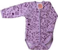 Боди для младенцев Топотушки С длинным рукавом / 6411-68 (сиреневый) -