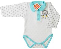 Боди для младенцев Топотушки С длинным рукавом / 7433-68 (голубой) -