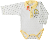 Боди для младенцев Топотушки С длинным рукавом / 7433-68 (желтый) -