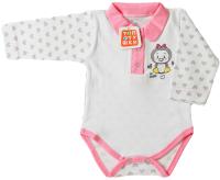 Боди для младенцев Топотушки С длинным рукавом / 7433-68 (розовый) -