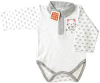 Боди для младенцев Топотушки С длинным рукавом / 7433-68 (серый) -