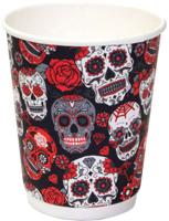 Набор бумажных стаканов Krafteco Santa Muerte двухслойный (20x250мл) -