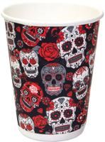 Набор бумажных стаканов Krafteco Santa Muerte двухслойный (20x300мл) -