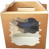 Набор коробок упаковочных для еды Krafteco Крафт 180x180x220мм (10шт) -