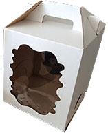 Набор коробок упаковочных для еды Krafteco 180x180x220мм  (10шт) -