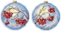Набор для вышивания М.П.Студия Морозная рябина / Р-166М -