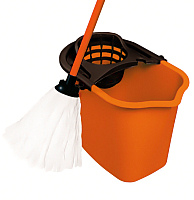 Набор для уборки пола York Set с прямоугольным ведром (10л, оранжевый) -