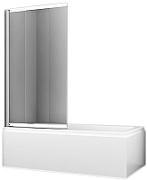 Стеклянная шторка для ванны Wasserkraft Main 41S02-100 (140x100) -