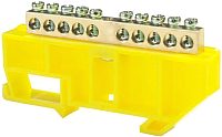 Шина нулевая ETP 10Р с DIN-изолятором (желтый) -