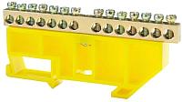 Шина нулевая ETP 14P с DIN-изолятором (желтый) -
