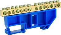 Шина нулевая ETP 14P с DIN-изолятором (синий) -