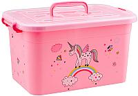 Контейнер для хранения Полимербыт Радуга 81001 (розовый) -