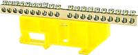 Шина нулевая ETP 20P с DIN-изолятором (желтый) -