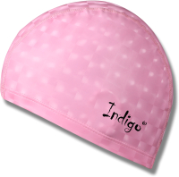 Шапочка для плавания Indigo 3D IN047 (розовый) -