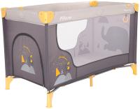 Кровать-манеж Pituso Florecita / P613 (серый) -