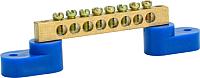 Шина нулевая ETP 8 с 2 изоляторами -