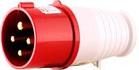 Вилка силовая EKF 014 3Р+РЕ 16А 380В IP44 -