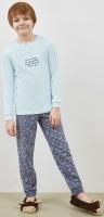 Пижама детская Mark Formelle 563311 (р.104-56, светло-мятный/оригами на графите) -