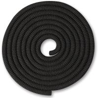 Скакалка для художественной гимнастики Indigo SM-121 (2.5м, черный) -
