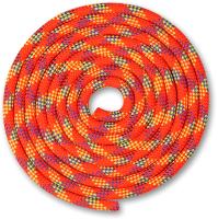 Скакалка для художественной гимнастики Indigo SM-359 (2.5м, коралловый/фиолетовый/лимонный) -