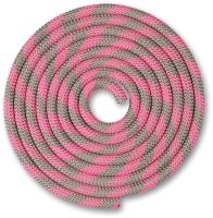 Скакалка для художественной гимнастики Indigo SM-359 (2.5м, серый/розовый) -