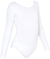 Купальник для художественной гимнастики Indigo SM-093 (р.30, белый) -