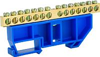 Шина нулевая EKF 14 с DIN-изолятором (синий) -