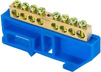Шина нулевая EKF 8 с DIN-изолятором (синий) -