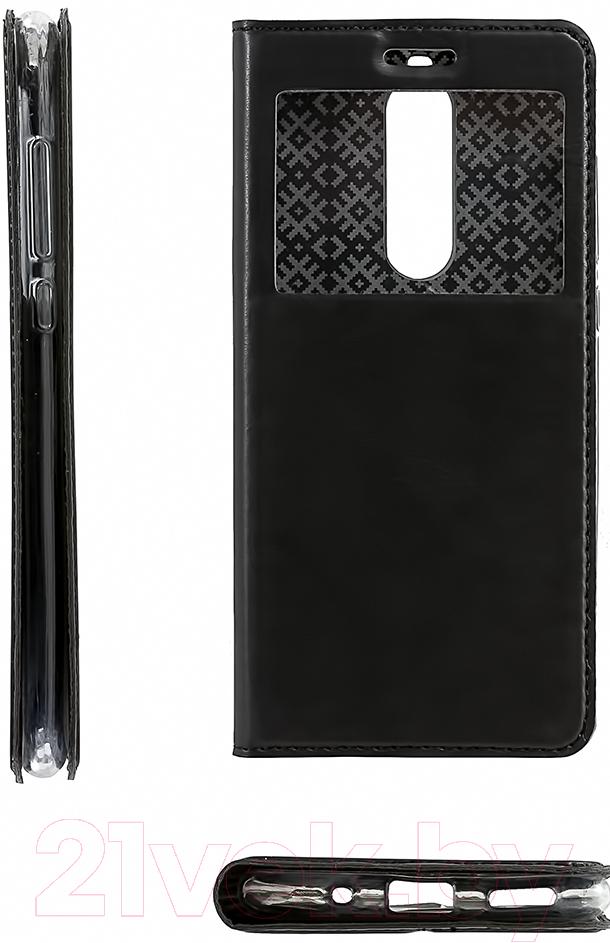 Купить Чехол-книжка Case, Hide Series для Nokia 5.1 (черный), Китай, искуcственная кожа