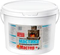 Гидроизоляционная мастика Мастер плюс Клеящая термостойкая на минеральной основе (6кг) -