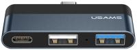 USB-хаб Usams Type-C Mini USB / US-SJ490 (темно-серый) -