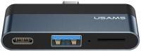 USB-хаб Usams Type-C Mini USB / US-SJ491 (темно-серый) -