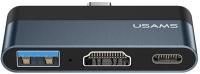 USB-хаб Usams Type-C Mini USB / US-SJ492 (темно-серый) -